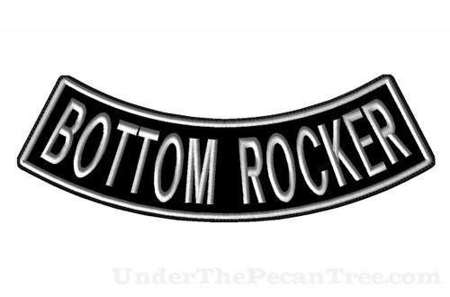 "CREATE YOUR OWN 13"" WIDE BOTTOM ROCKER WITH BLOCK FONT"