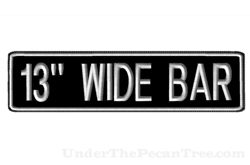 "CREATE YOUR OWN 13"" WIDE BAR PATCH WITH BLOCK FONT"
