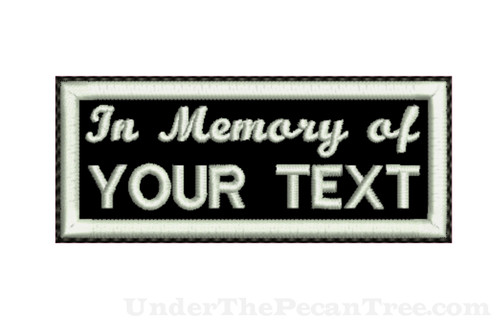 "CREATE YOUR OWN 1.8""X4.3"" MEMORY PATCH"