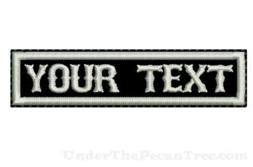 "CREATE YOUR OWN 1""X4"" NAME PATCH WITH BOSOX FONT"