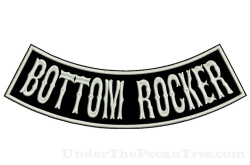 "CREATE YOUR OWN 13"" WIDE BOTTOM ROCKER WITH BOSOX FONT"