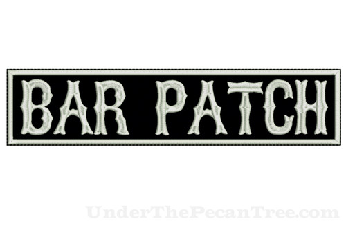 "CREATE YOUR OWN 13"" WIDE BAR PATCH WITH BOSOX FONT"