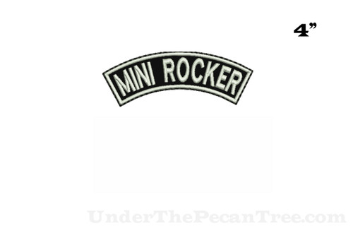 "4"" Mini Top Rocker Patch For Your Biker Vest"