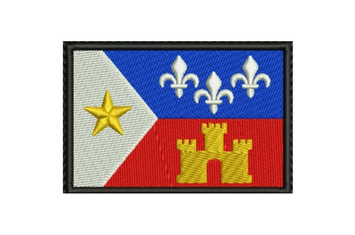 ACADIANA FLAG SEW ON PATCH