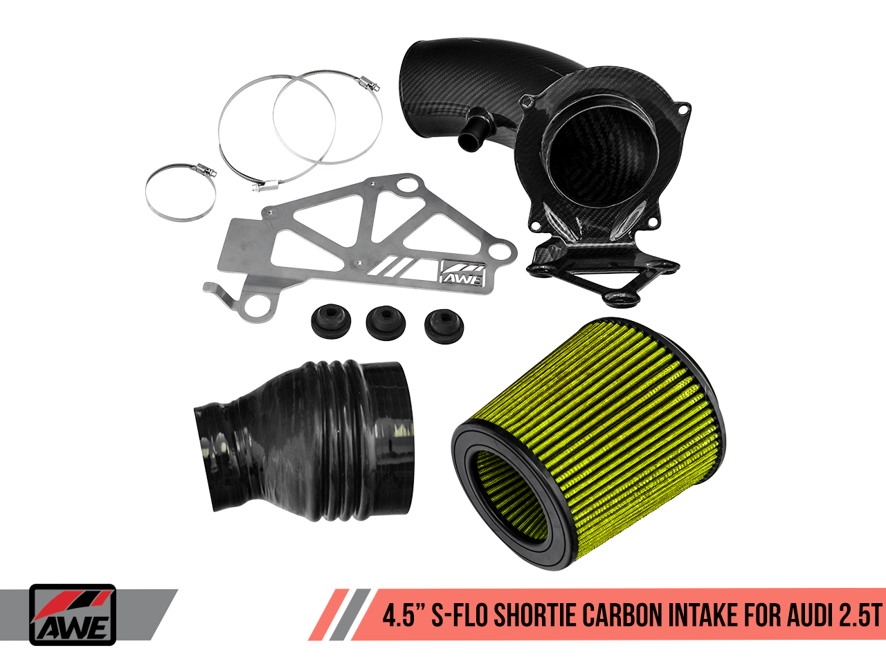 "AWE 4.5"" S-FLO Carbon Intake System for Audi RS 3 / TT RS 2.5T"