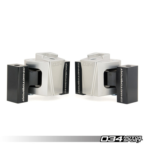 034motorsport Billet Motorsport Engine Mount Pair, B8/B8.5 Audi A4/S4, A5/S5, Q5/SQ5