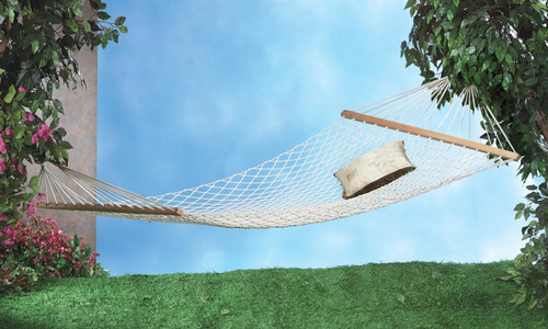 Two Person Cotton Rope Hammock