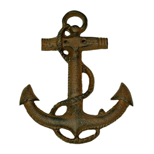 Boat Anchor Cast Iron Wall Hanging - Set of 2