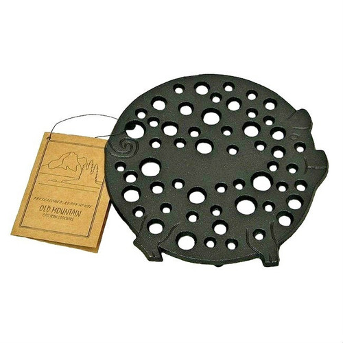 Old Mountain Cast Iron Round Pig Trivet