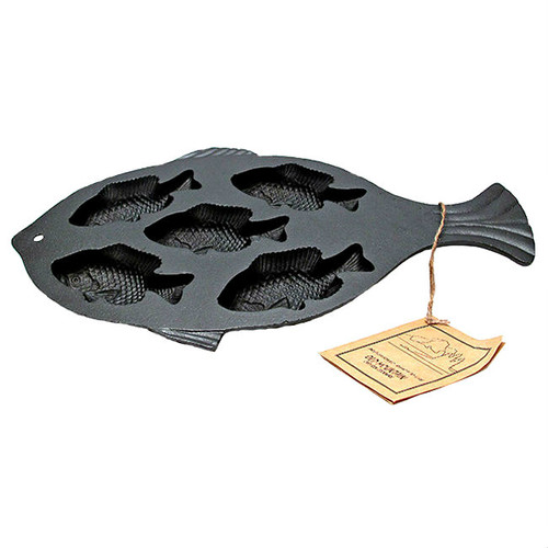 Old Mountain Cast Iron Fish Cornbread Pan