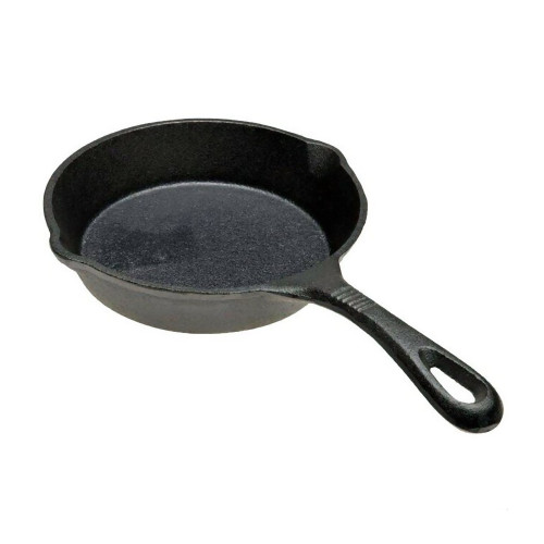 """Old Mountain Cast Iron 6 1/2"""" Skillet with Pour Spouts"""