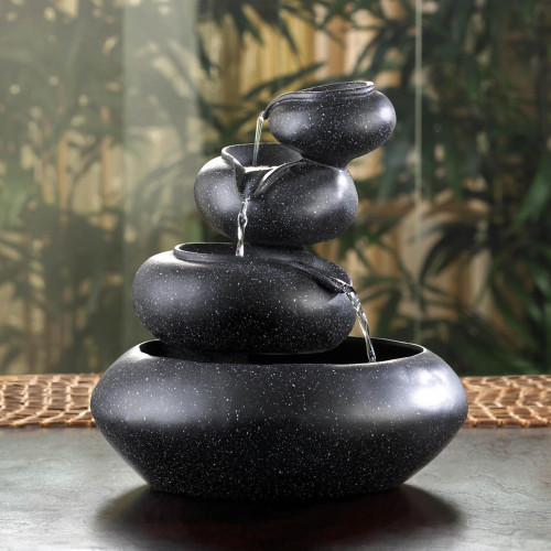 Four Tier Cascading Tabletop Water Fountain