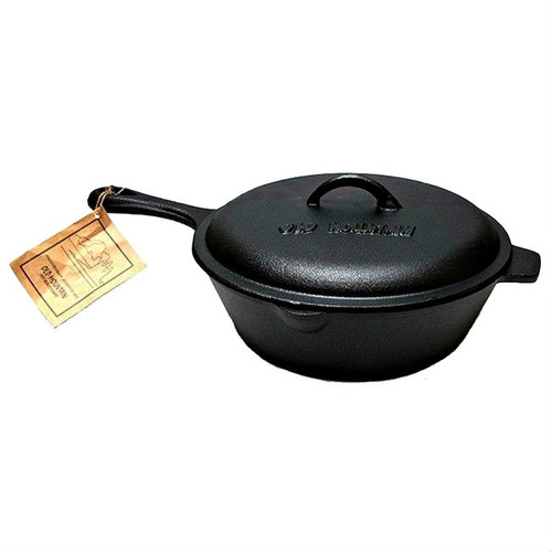 Old Mountain Cast Iron 3 Qt Deep Fry Skillet with Lid