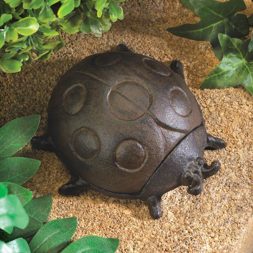 Ladybug Cast Iron Outside Hide A Key Holder