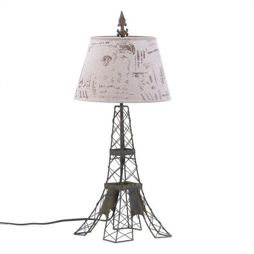 Parisian Metal Table Lamp with Hemp Shade