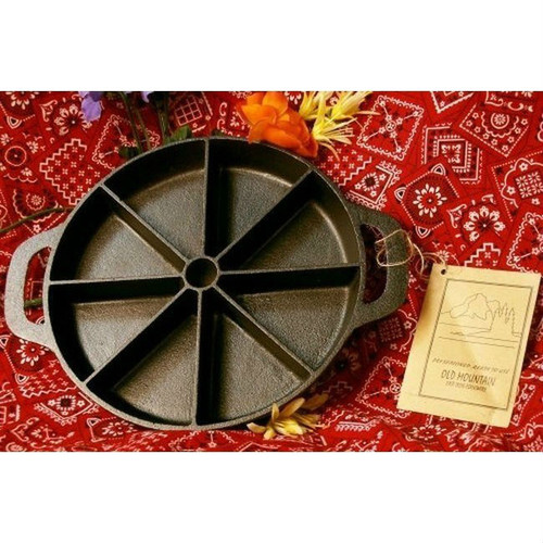 Old Mountain Cast Iron Pre-Sliced Cornbread Pan