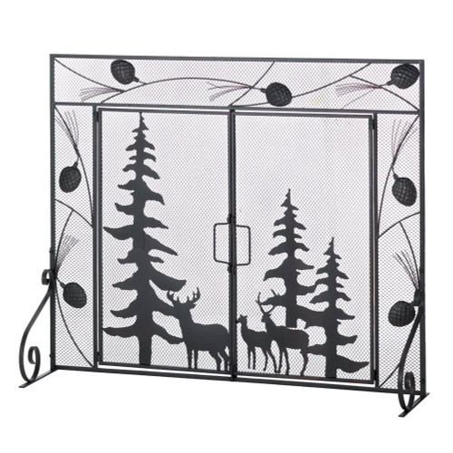Woodland Forest Flush Fit Fireplace Screen