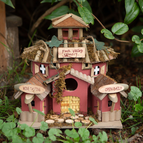 Finch Valley Winery Wood Birdhouse