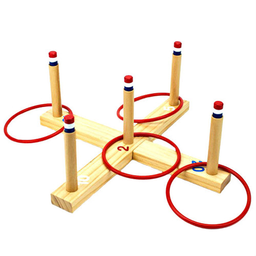 Ring Toss Five Peg Wood Indoor Outdoor Game