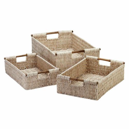 Trio of Corn Husk Nesting Baskets