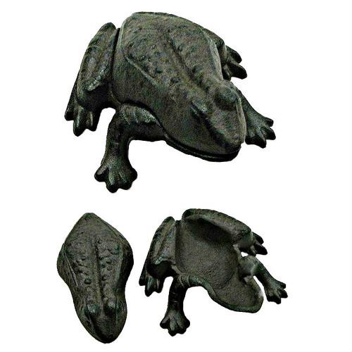 Black Frog Cast Iron Outdoor Hide A Key Holder