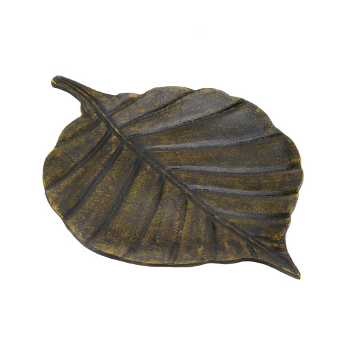 Avery Leaf Decorative Tray with Antique Finish