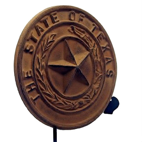 State of Texas Seal Cast Iron Plaque