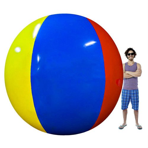 Behemoth Multi Color Giant 12' Inflatable Vinyl Beach Ball