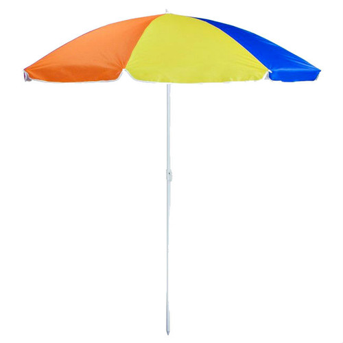 Rainbow Color 6' Beach Umbrella with Pole