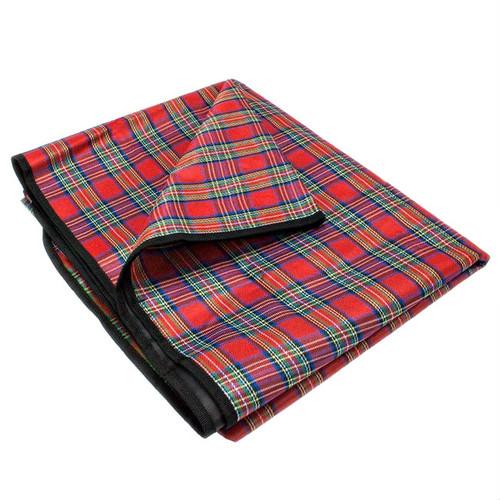 "Red Plaid All Purpose Medium 58"" x 58"" Camping Blanket"