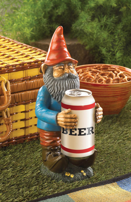 Beer Buddy Garden Gnome Can Holder