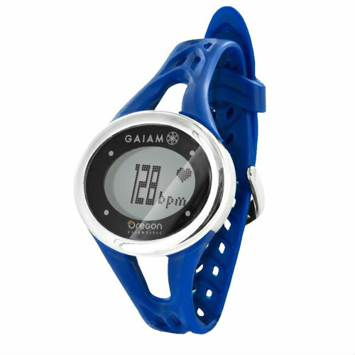 Navy Blue Gaiam ECG Heart Rate Monitor Touch Watch