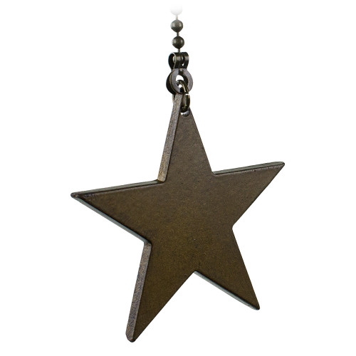 Cozumel Gold Metal Bead Pull Chain with Wood Star