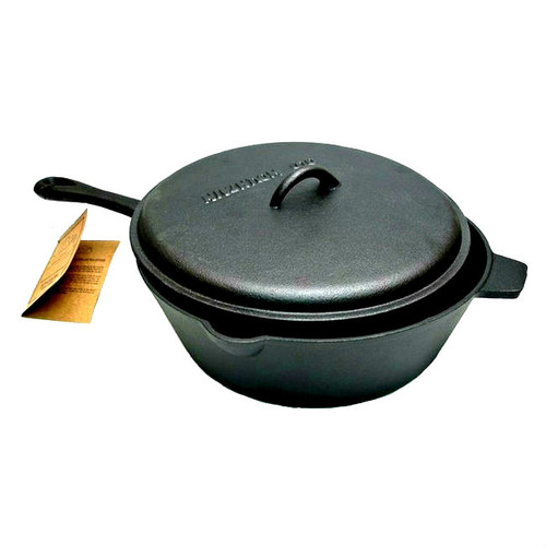 Old Mountain Cast Iron 5 Qt Deep Fry Skillet with Lid