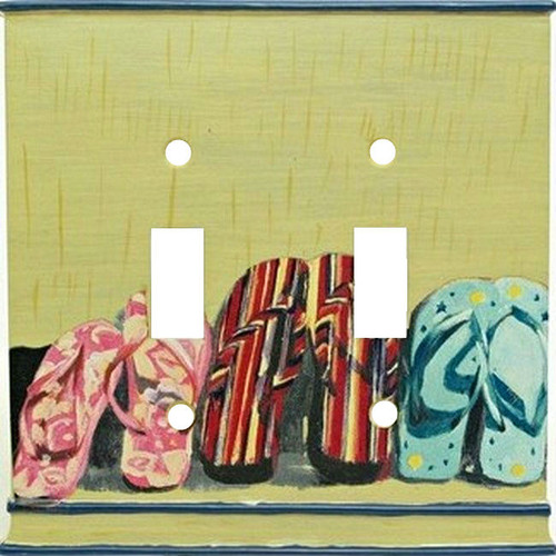 Life's A Beach Double Light Switch Plate Cover