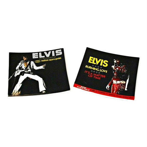 Elvis Presley in Rhinestone Apparel Trinket Trays - Set of Two