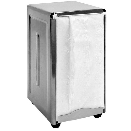 Retro Tall Fold Stainless Steel Spring Load Napkin Dispenser