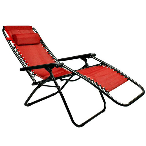Zero Gravity Ergonomically Designed Red Folding Lounge Chair