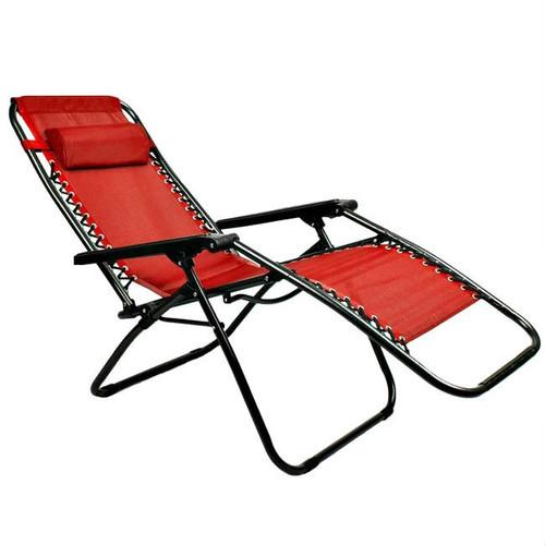 Red Zero Gravity Folding Lounge Chair