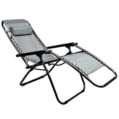 Gray Zero Gravity Folding Lounge Chair