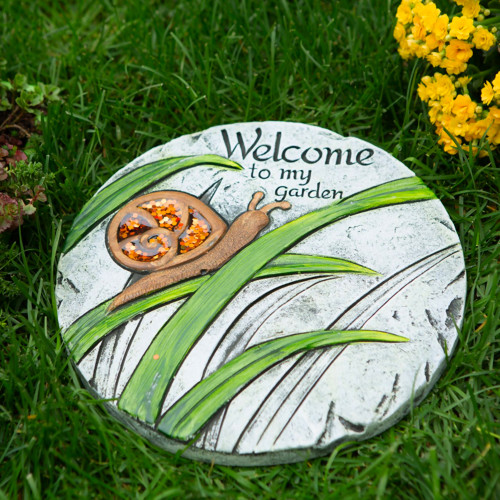 Welcome To My Garden Cement Stepping Stone