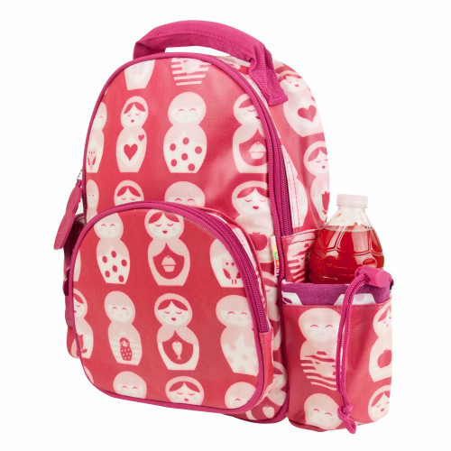 Penny Scallan Child's Pink Russian Doll Cotton Canvas Backpack