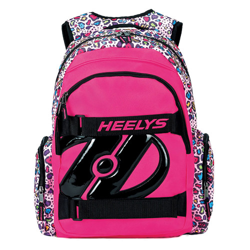 Heely's Thrasher Pink with Multi Color Cheetah Print Backpack