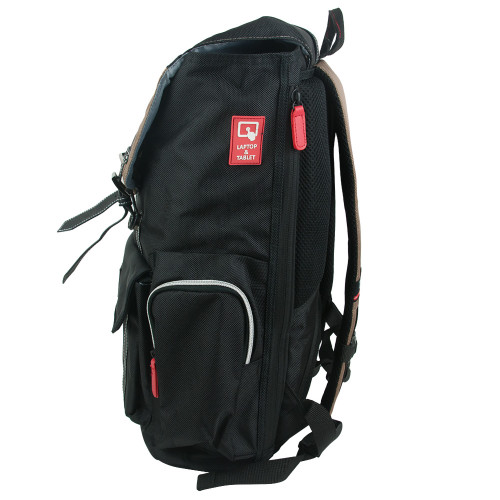 """Black and Brown Heavy Duty Scout 18"""" Laptop Backpack"""