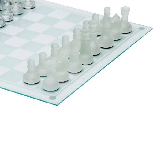 All Glass Game Board and Pieces Chess Set