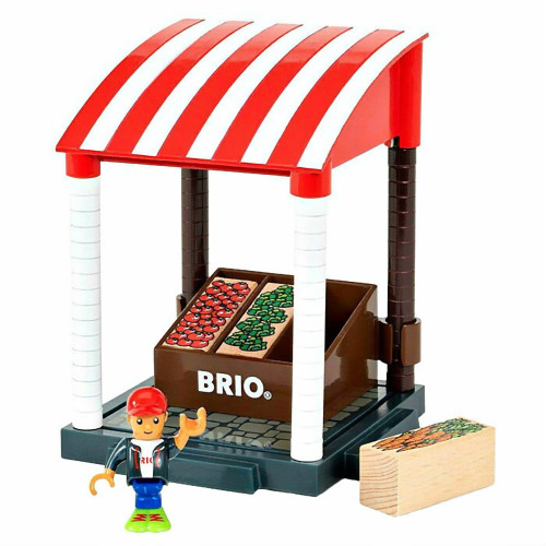 Brio Fruit and Vegetable Market Stand 11 Piece Playset
