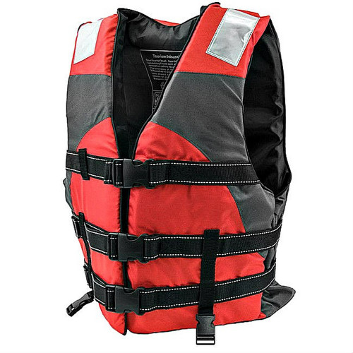 Red Hi Vision Adult Water Safety Reflective Life Vest
