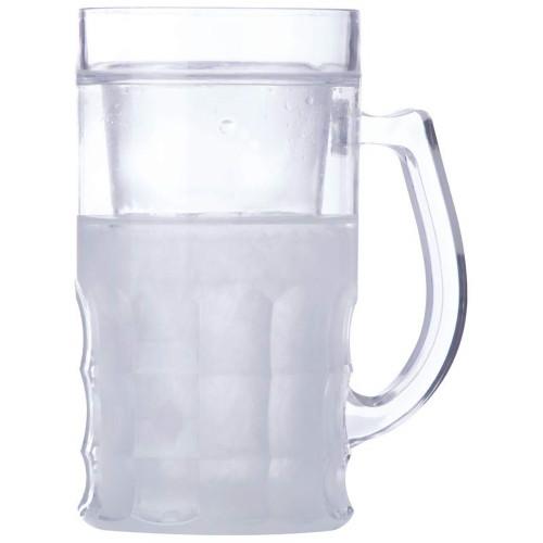 Beverage or Beer Mug with Freezing Gel Liner