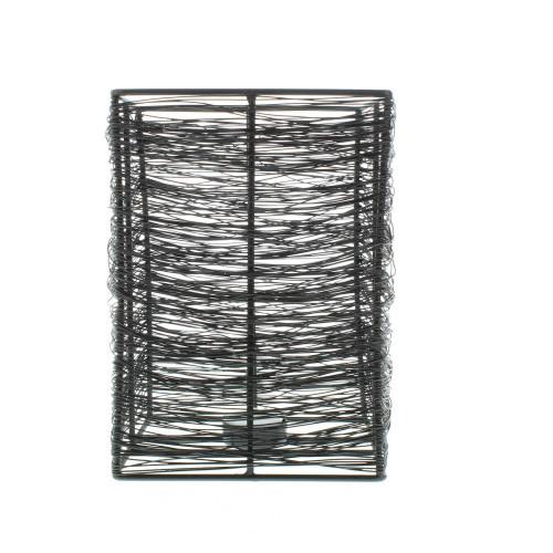 Thatched Metal Wire Candle Stand