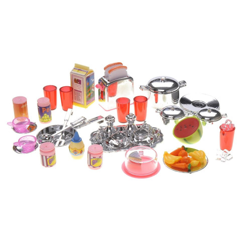 Modern Battery Operated Kitchen with Accessories Play Set